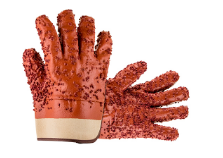 Red PVC Chips Glove