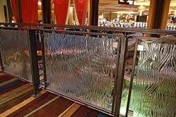 Iron Glass Railing Fabrication