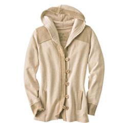 Ladies Hooded Fleece Full Open Jacket