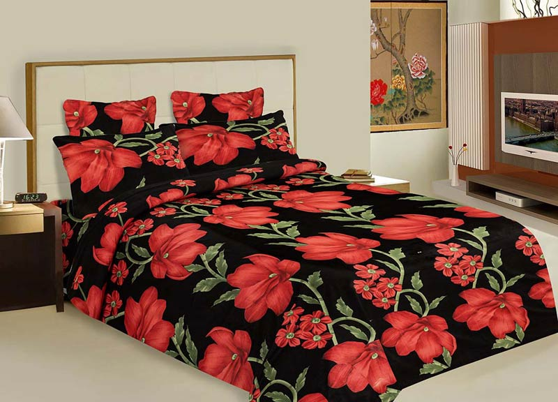 bed sheets printed. Modren Printed Cotton Printed Bed Sheets With E