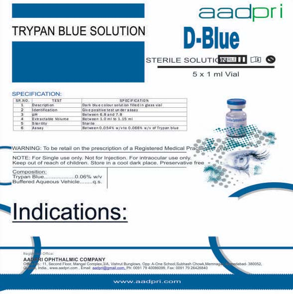 Trypan Blue Ophthalmic Solution (D-blue)