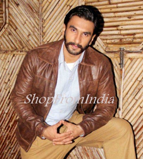 Star Ranbir Singh Brown Lamb Leather Jacket Blazer Coats