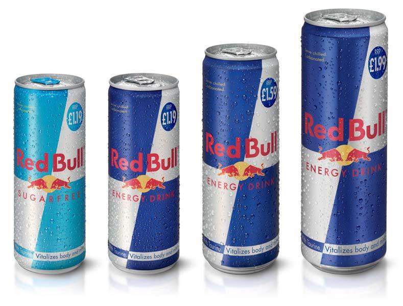 red bull product range