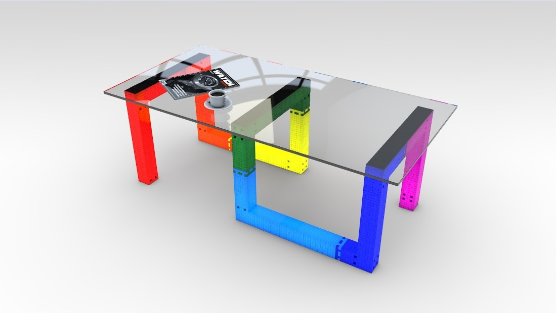 Building Blocks Toy, Special Colorful End Table