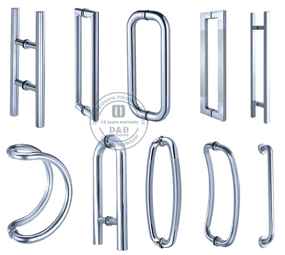 Tubular Pull Handle Glass Door Pull Handles Pull Handle With Plate