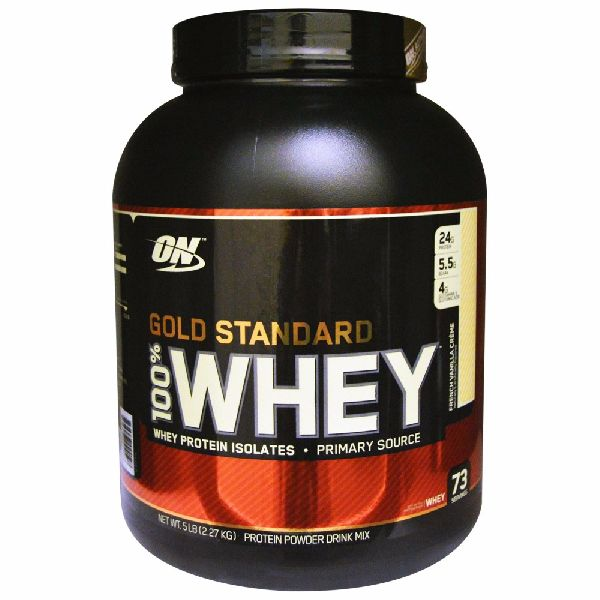 5lbsgold standard protein whey for body fitness/gold standard whey protein for body building/optimum (Food Grade)