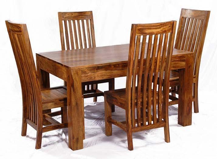 Beau Sheesham Wood Dining Table Set