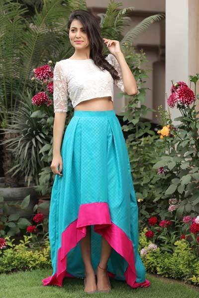 high low skirt with crop top manufacturer injalandhar