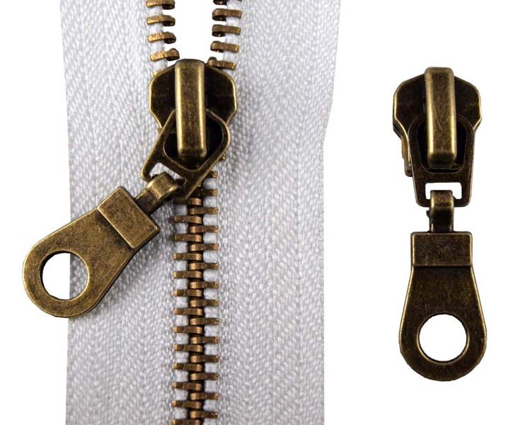Antique Brass Zipper