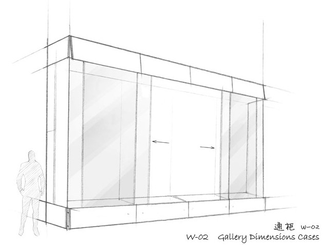 museum wall display cases gallery dimensions cases w 02