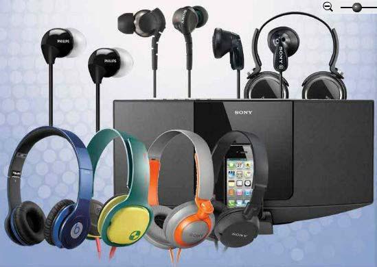 Branded Earphones and Headphones