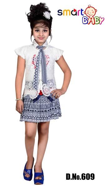 Girls Top And Skirt Set (609)