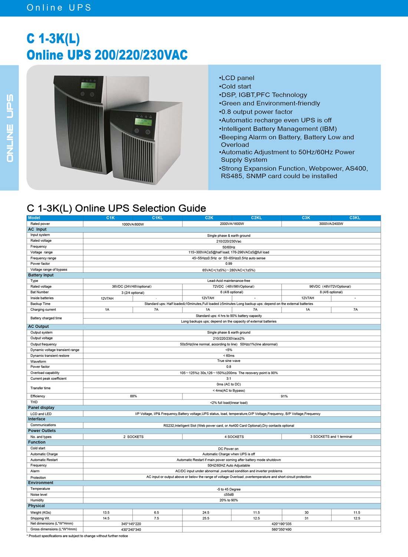 C Series Online Ups 1-3kva Manufacturer & Exporters from