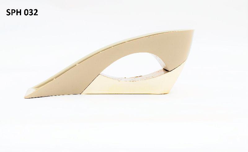 Plastic wedge heels