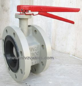 Double Flanged End Butterfly Valve