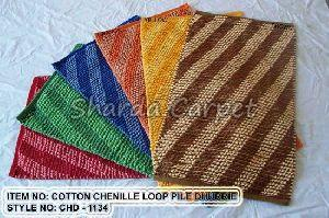 Cotton Chenille Loop Pile  Dhurries