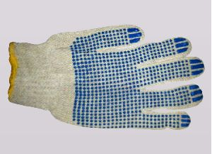 Pvc Dotted Cotton Hand Gloves