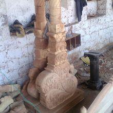 Wooden Decorative Swing Pillar