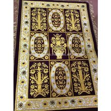 Zari Embroidery Jewel Carpet