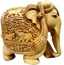 Carving Elephant Handicraft Home Decor Items