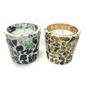 Mosaic Votive Candles