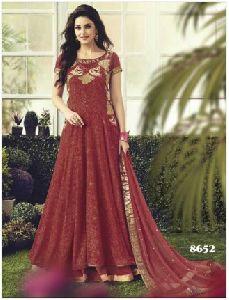 Maroon Designer Anarkali Suit