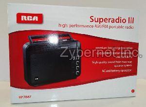 Rca Superadio Iii High Performance Am/fm Portable Radio, Model #rp7887