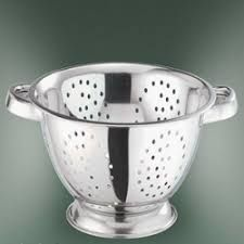 Square Punching Deep Colander