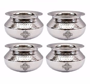 Stainless Steel Serving Handi Dish