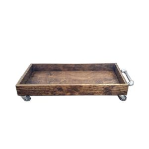 Large Natural Wood Boot Tray