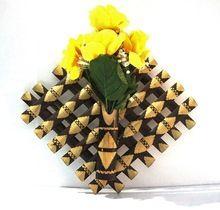 Bamboo Wall Hanging Flower Vase