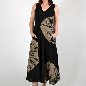 Beachwear Sleeveless V- Neck Long Dress