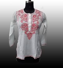 Classic Embroidered Cotton Tunic Top