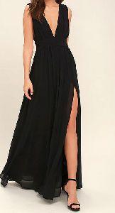 Hues Black Maxi Dress
