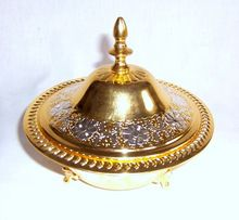 Gold Silver Royal Arabic Dates Bowl