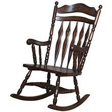 Antique Hand Carved Wooden Rocking Chair