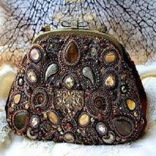 Handmade Beaded Fabric Ladies Coin Purse