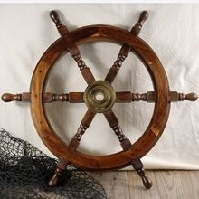Handmade Wooden Steering Ship Wheel