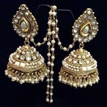 Kundan Polki Bridal Earrings