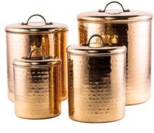 copper Hammered Canister