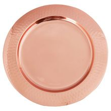 Copper Hammered Plates
