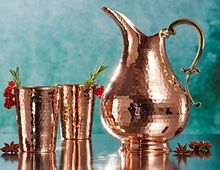 Solid Hammered Copper Moscow Mule