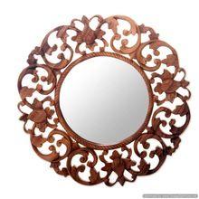 Wooden Antique Wall Mirror