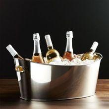 Vintage Stainless Steel Oval shape Beverages Tub