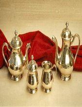 Brass Tea Pot Set Shine Polish