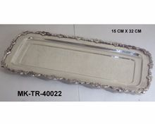 Brass Silver Plated Rectangular Designer Trays