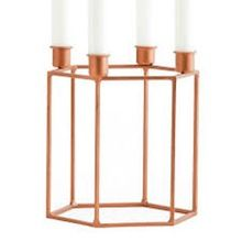 4 Lite Copper Candelabra