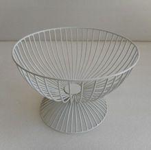 Iron Wire White Mesh Fruit Basket