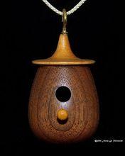 Wooden Hanging Bird Feeder