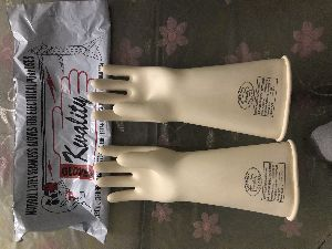 Kwality Seamless Electrical Insulated Rubber Hand Gloves